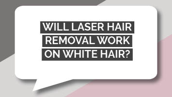 Will laser hair removal work on white hair?